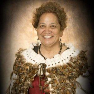 maori woman wearing a kahu huruhuru or feather cloak